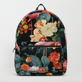 Floral and Flemingo II Pattern Backpack