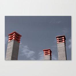 Dancing chimneys Canvas Print