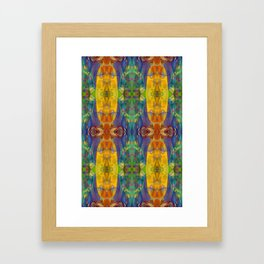 Blue Rainbow Framed Art Print