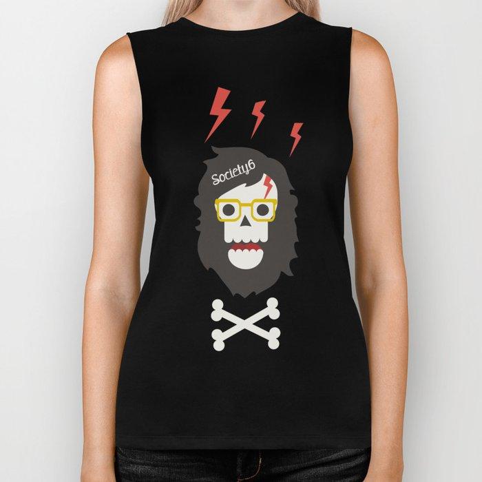 Society6 skull'n'bones Biker Tank