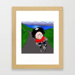 Cycling pig Framed Art Print