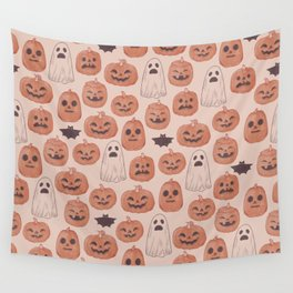 Spooky Pumpkin Patch Wall Tapestry