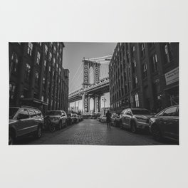New York City Bridge (Black and White) Rug
