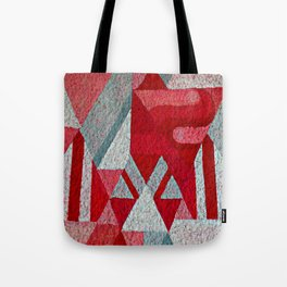 Pink, Red and Grey Tote Bag