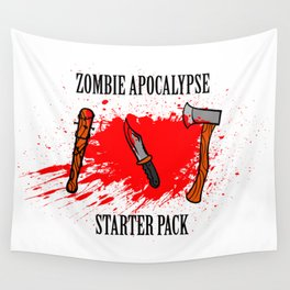 Zombie apocalypse - starter pack Wall Tapestry