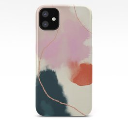 sky abstract with pink & green clouds iPhone Case