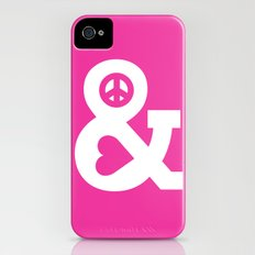 Peace and Love (pink edition) iPhone (4, 4s) Slim Case