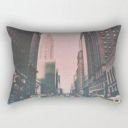 New York City Street, Chrysler Building Rectangular Pillow