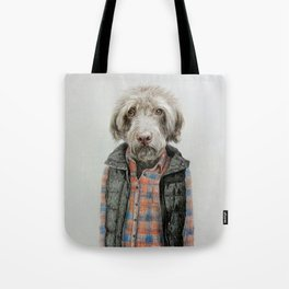dog in shirt Tote Bag