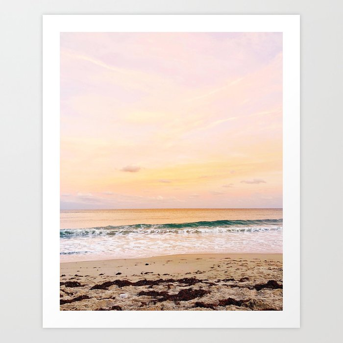 Palm Beach sunset Art Print