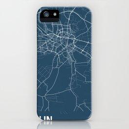 Lublin Blueprint Street Map, Lublin Colour Map Prints iPhone Case