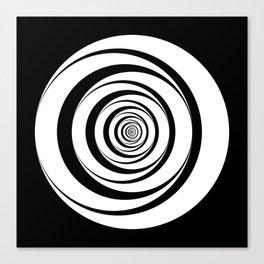 Black White Circles Optical Illusion Canvas Print