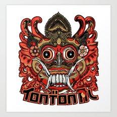 Barong tontonal design Art Print