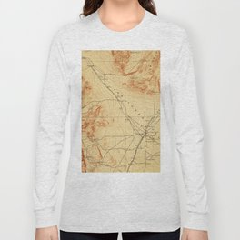 Vintage Map of The Las Vegas Valley NV (1907) Long Sleeve T-shirt