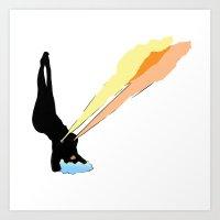 baby do that yoga Art Print