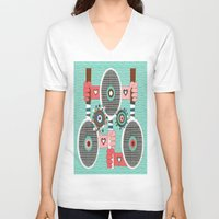 tennis V-neck T-shirts featuring Tennis anyone? by Amy Gale