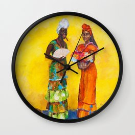 Flower Ladies Wall Clock