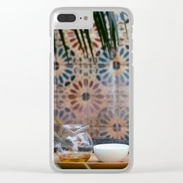 Tea set Clear iPhone Case