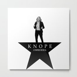 Parks and Ham - Knope the Musical Metal Print