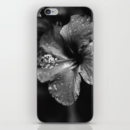 Black & White Hibiscus iPhone Skin