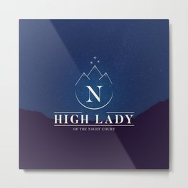 High Lady of the Night Court Metal Print