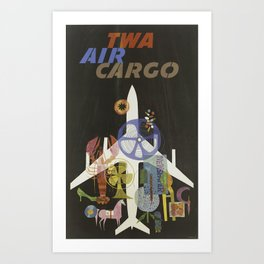 TWA Air Cargo - Vintage Advertising Travel Poster Art Print