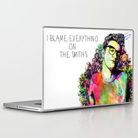the smiths Laptop & iPad Skins featuring I blame everything on The Smiths by Ben Hawke