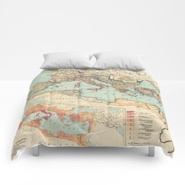 Vintage Map of The Roman Empire (1889) Comforters