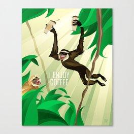 Gibbons Enjoy Coffee Canvas Print