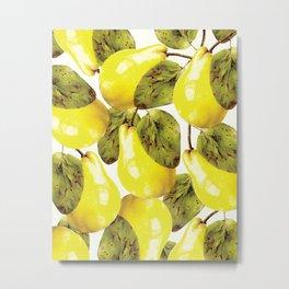 Pear pattern #society6 Metal Print