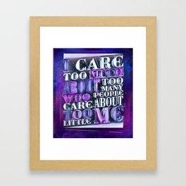 Quote Design (Silver Version) Framed Art Print