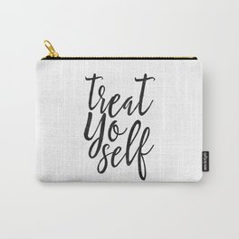 Treat Yo Self, Quote prints,Love Yourself, Kitchen Decor,Printable Wall Art,Quote Printable Carry-All Pouch