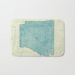 Arkansas State Map Blue Vintage Bath Mat