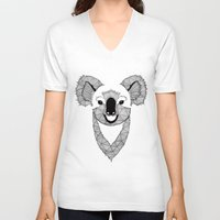 koala V-neck T-shirts featuring Koala by Art & Be