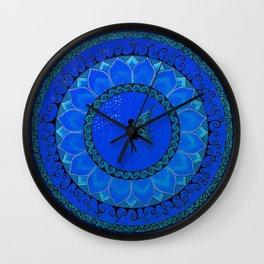 Fairy Garden Blue Wall Clock
