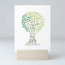 I'm Not Under a Lot of Stress, I'm Distressed - Tree Green Pattern Mini Art Print