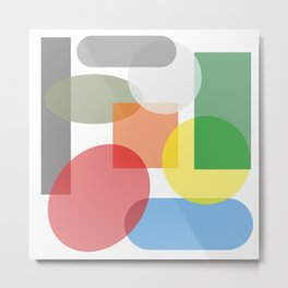 Tech geometric colorful Background #society6 #decor #buyart #artprint Metal Print