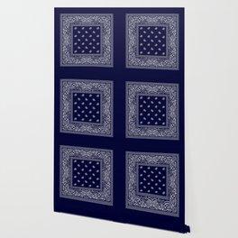 Bandana - Navy Blue - Southwestern Wallpaper