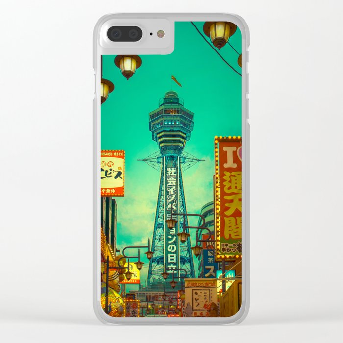 Osaka Nights - Shinsekai, New World / Liam Wong Clear iPhone Case