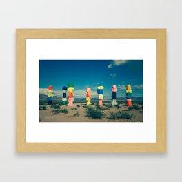 Seven Magic Mountains (Series1 Pt.1) Framed Art Print
