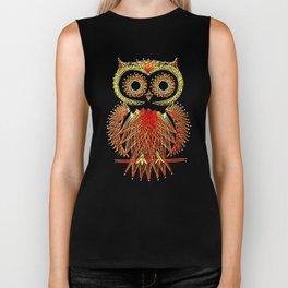 String Art Owl Biker Tank