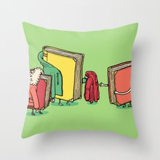 Book Jackets Throw Pillow