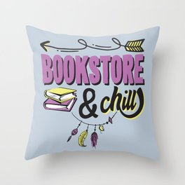 Book Store And Chill Throw Pillow