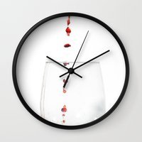 wine Wall Clocks featuring Wine by Loaded Light Photography