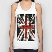 uk Tank Tops featuring UK Flag by WonderfulDreamPicture