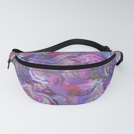 Abstract Swirls Style 2 Digital Painting Design Fanny Pack