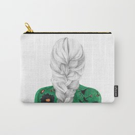 Braid in Green Carry-All Pouch