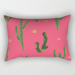 Desert Vibes Pink Rectangular Pillow
