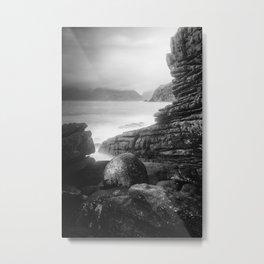 The Elgol Pebble Metal Print