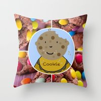 cookie Throw Pillows featuring Cookie by Jolly Songbird